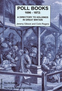 Poll Books 1696 - 1872: A Directory To Holdings In Great Britain