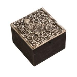 Embossed Bird Trinket Box