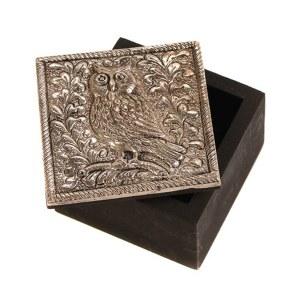Embossed Owl Trinket Box