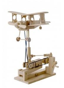 Bi-Plane Mechanical Moving Wooden Model Kit