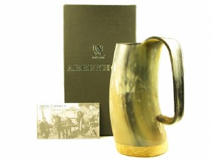 Polished Cow Horn Tankard