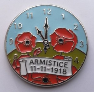 Armistice Poppy Pin Badge