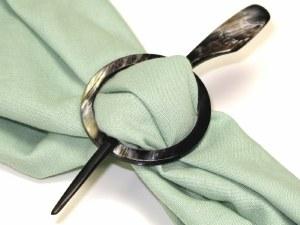 Handmade Horn Scarf Pin