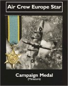 Air Crew Europe Star: Miniature Replica Medal