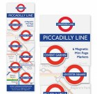 Piccadilly Line Magnetic Page Markers