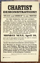 Chartist Demonstration Poster Tea Towel