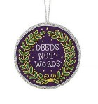 Suffragette Motto Tree Decoration