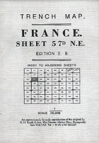 Trench Map France Sheet 57D NE Ed. 2 B
