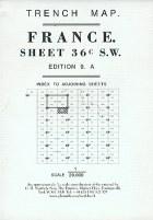 Trench Map France 36C SW : Lens-Maroc-Souchez-Vimy
