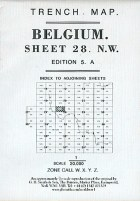 Trench Map Belgium Sheet 28 NW Edition 4A