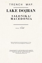 Trench Map Lake Dojran (Salonika/ Macedonia)