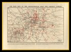 London Air Raid Map Great War 1914-18