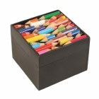 Square Recycled Pencils Wooden Storage Box