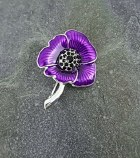 Purple Poppy Brooch