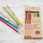 Recycled Newspaper Pencil Set