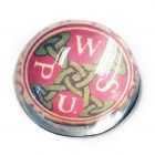 WSPU Suffragette Glass Paperweight