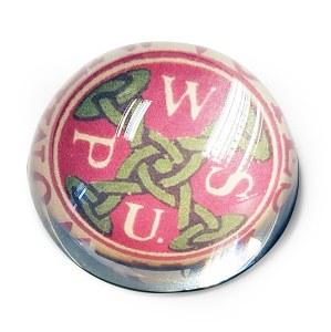 WSPU Suffragette Glass Paperweight