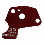 MAX SIZE RESTRICTOR PLATE RED .375