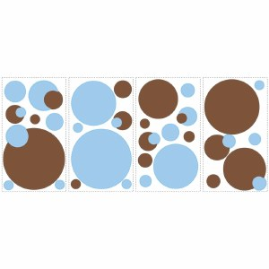 Blue & Brown Dots Wall Decals