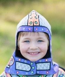 *Colour A Knight Helmet