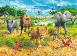 African Animal Babies 300pc Puzzle
