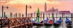 Gondolas in Venice 1000pc Panoramic Puzzle