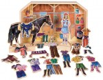 Stable Pals - Becca & Beauty Magnetic Wooden Dress - Up