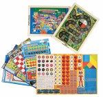Wooden Magnetic Travel Games - 12 in 1