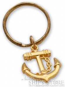 Key Chain -  Gold Anchor