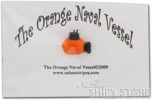 Magnet - Orange Naval Vessel