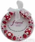 Bracelet- Polka Dots Red