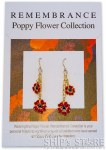 Earrings - Red poppy gold