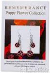Earrings - Red poppy silver