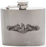 Flask- Pewter Dolphins