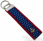 Key Fob -  Blue with an anchor
