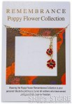 Necklace - Red Poppy gold