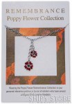 Necklace - Red Poppy silver