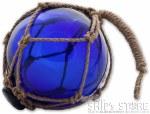 "Ornament - Glass 5"" Blue"