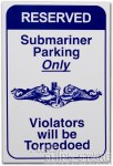 Sign - Submarine Parking