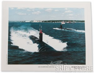 Lithograph - USS Hartford