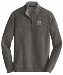 1/4 Zip Interlock Fleece char