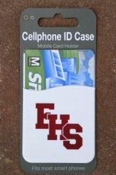 Cellphone ID case white