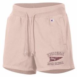 Womens Fleece Shorts Pink smal