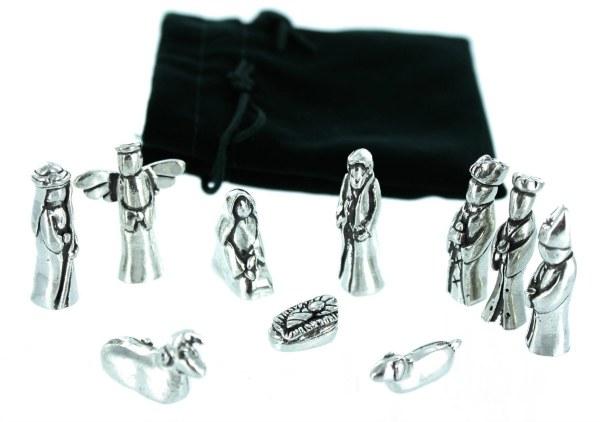 Miniature Pewter Nativity Set by Basic Spirit
