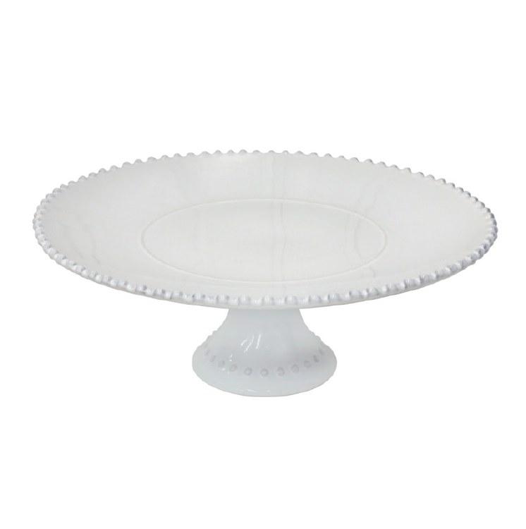 Costa Nova Pearl Footed Cake Pedestal White