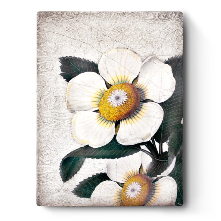 Sid Dickens T487 White Blossoms Memory Block