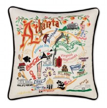 Hand Embroidered Atlanta Pillow