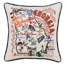 Hand Embroidered Georgia Pillow