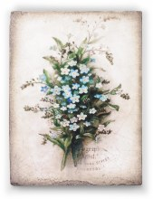 Sid Dickens T444 Forget Me Not Memory Block