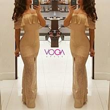 Cinderella maxi dress L Gold